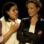 Paula James and Johanne Murdock as Portia & Brutus