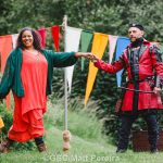 Paula James and Chris Porter as Lady Marian and the Sheriff of Nottingham