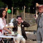Paula James, James Sheldon and Chris Porter as Jacquenetta, Dumaine and King of Navarre