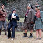 Sally Cheng, Matt Pinches, Paula James and Sarah Gobran as Moth, Don Adriano De Amardo, Jacquenetta and the Princess of France