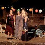 Paula James, Sally Cheung, Natasha Rickman and Sarah Gobran as Maria, Katherine, Rosaline and the Princess of France