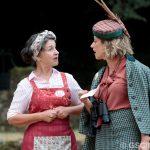 Elaine Caxton and Sarah Gobran as Costard and the Princess of France