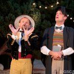 Matt Pinches and James Sheldon as Don Adriano De Amardo and Holofernes