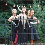 Emma Fenney, Aisla Joy and Sarah Gobran as Host, Silvia and Lucetta