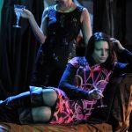 Sarah Gobran and Rosalind Blessed as Regan and Goneril