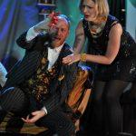 Richard Neale and Sarah Gobran as Cornwall and Regan in King Lear