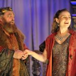 Brian Blessed and Emily Tucker as Lear and Cordelia