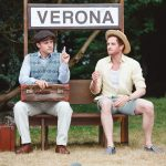 Owen Findlay and Jack Whitam as Valentine and Proteus in the Two Gentlemen of Verona