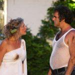 Sarah Gobran and Owen Oakshott as Katherina and Petruchio