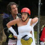 Owen Oakshott and Sarah Gobran as Petruchio and Katherina