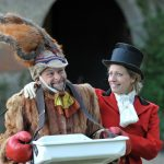 Chris Porter and Sarah Gobran as Hare and Fox in The Wind in the Willows
