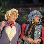Rob Witcomb and Matt Pinches as Bargewoman and Toad
