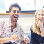 Robert Mountford and Hannah Morrish in Rehearsals