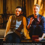 Robert Elkin and Ricky Oakley as Benvolio and Romeo