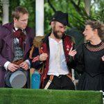 Richard Galazka, Chris Porter and Sarah Gobran as Sir Andrew Aguecheek, Sir Toby Belch and Maria