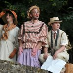 Rhiannon Sommers, Matt Pinches and Angie Wallis as Rosalind, Touchstone and Adam