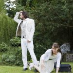 Jack Bannell and Louise Best as Demetrius and Helena in A Midsummer Night's Dream