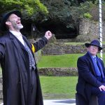 James Sobol Kelly and Damian Davis as Shylock and Antonio in The Merchant of Venice
