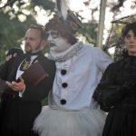 Matt Pinches, Morgan Philpott and Rhiannon Sommers as Malvolio, Feste and Olivia