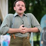 Matt Pinches as Benedick in Much Ado About Nothing