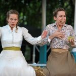 Ellie Beaven and Rachel Donovan as Hero and Margaret