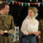 Matt Pinches and Sarah Gobran as Benedick and Beatrice