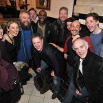 The cast with Sir Kenneth Branagh and Brian Blessed