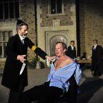 James Sobol Kelly and Damian Davis as Shylock and Antonio
