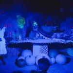 Amelia Annowska and Eliot Giuralarocco as Alice and the Caterpillar