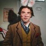 Dominic Rye as the White Rabbit